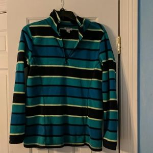 Old Navy Striped 1/4 Zip Pull Over Size L